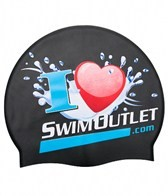 I Love SwimOutlet.com Silicone Swim Cap