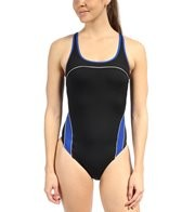 Speedo Mercury Spliced Drop Back Swimsuit