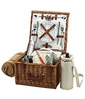 Picnic at Ascot Cheshire Picnic Basket For Two With Blanket & Coffee Service
