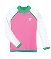 TYR Girls' Solid Rashguard (2yrs-10yrs)