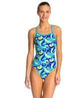 Waterpro Swirls Blue One Piece Swimsuit