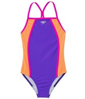 Speedo Girls' Mesh Thin Strap One Piece (7yrs-16yrs)