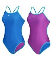 Nike Swim Reversible Solids Cut Out Tank One Piece Swimsuit