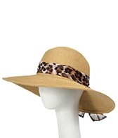 Sun N Sand Ambrosia Animal Scarf Straw Hat