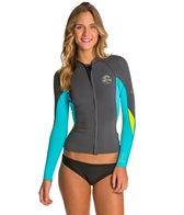 O'Neill Women's Bahia 1MM Full Zip Wetsuit Jacket