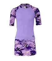 Tuga Girls' Tropical Breeze Rash Guard 3 Piece