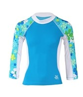 Tuga Girls' Shoreline Daisy Toss L/S Rash Guard