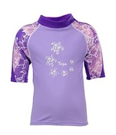 Tuga Girls' Off Shore Tuga Coral S/S Rash Guard