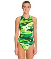 Nike Women's Painted Camo Water Polo High Neck Tank