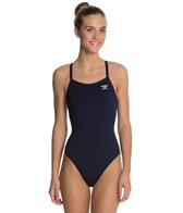 Finals Endurotech Women's Solid Butterfly Back One Piece Swimsuit