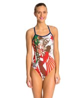 HARDCORESPORT Women's Cali X-Back One Piece Swimsuit