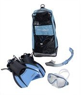 U.S. Divers DIVA/Island Dry Lx/ Trek LX Travel Bag Snorkel, Mask, and Fin Set