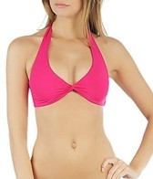 L-Space Sensual Solids Bella Twist Halter Bikini Top
