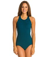 Penbrooke Krinkle Mastectomy High Neck One Piece Swimsuit