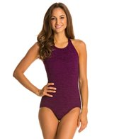 Penbrooke Krinkle Mastectomy High Neck Mio One Piece Swimsuit