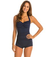 Seafolly Goddess Boyleg Halter One Piece Swimsuit