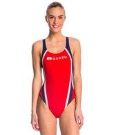 Speedo Lifeguard Quark Splice Pulse Back One Piece Swimsuit