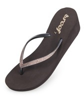 Reef Girls' Krystal Star Wedge Flip Flop
