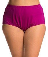 Maxine Plus Swimwear Size Solid Full Pant Bikini Bottom