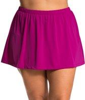 Maxine Plus Size Solid Swim Skirt