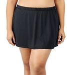 Maxine Plus Size Solid Swim Skirt