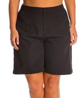 maxine-plus-size-solid-woven-long-boardshort