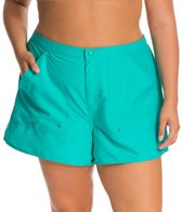 Maxine Plus Size Solid Woven Boardshort