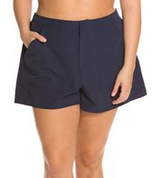 maxine-plus-size-solid-woven-boardshort