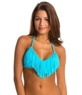 Body Glove Swimwear Womens Ibiza Fringe Triangle Bikini Top