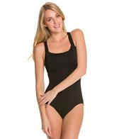 Penbrooke Krinkle Active Back One Piece Swimsuit