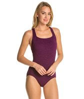 Penbrooke Krinkle D-Cup Active Back One Piece Swimsuit