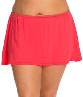 24th & Ocean Plus Size Solid Swim Skirt