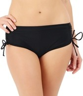 Ceeb Solid Drawstring Adjustable Brief Bikini Bottom