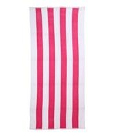 Royal Comfort Cabana Stripe Terry Velour Beach Towel 30 X 62