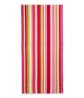 Royal Comfort Cabana Multi Stripe Terry Velour Beach Towel 30 X 62