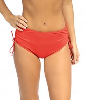 Beach House Swimwear Solid Adjustable High-Waisted Side Tie Bikini Bottom
