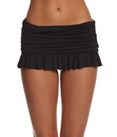 Beach House Swimwear Solid Ruffled Swim Skirted Bikini Bottom