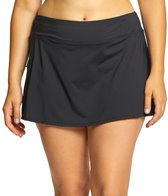 Beach House Plus Size Solid Pull On Skort