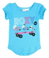 Roxy Kids' Turn It Round S/S Ruffle Tee (2T-6X)