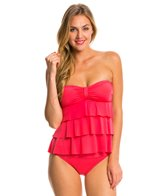 Kenneth Cole Reaction Ruffle-Licious Tiered Tubini Bikini Top