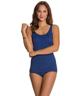 Penbrooke Krinkle Scoop Neck Sheath One Piece