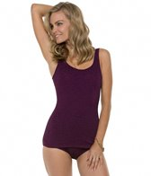 Penbrooke Krinkle Scoop Neck Sheath One Piece Swimsuit