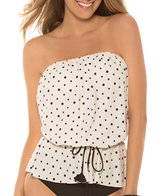 Eco Swim Speckled Dot Gathered Bandeau Top