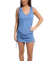 Eco Swim Shirred Side Dress