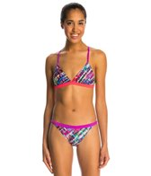 Speedo Flipturns Electro Stripe Mesh Back 2 PC