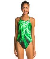 Nike Swim Galactic Opera Modern Cut Out Tank One Piece Swimsuit