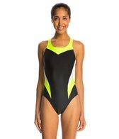 Nike Swim Women's Victory Color Block Power Back Tank One Piece Swimsuit