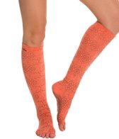 Toesox Knee High Scrunch Half-Toe Grip Socks