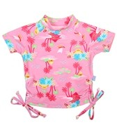 iPlay Girls' S/S Tie Rashguard (6mos-3T)