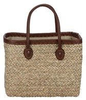 Sun N Sand Woodland Hue Straw Square Tote Beach Bag